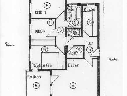 Helle, sonnige 4-Zimmer-Wohnung mit Balkon und EBK in Kirchheim/Teck