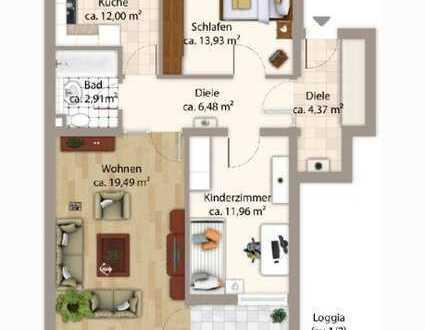 Schöne, helle 3-Zi.-Wohnung mit EBK, WM, Balkon, Bad mit Fenster, in ruhiger Wohngegend