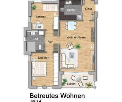 NEU Haus 4: Betreutes Wohnen: Dreizimmerwohnung im OG
