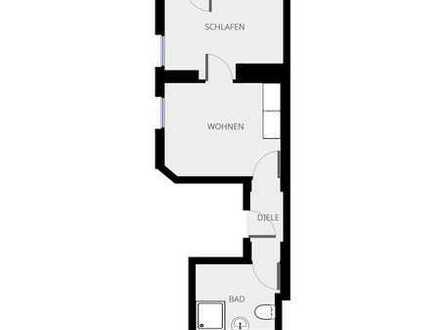 Schön saniertes, zentral gelegenes 2-Zimmerapartment mit EBK