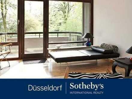 Möblierte 2-Zimmer-Wohnung mit Traumblick in den Hofgarten