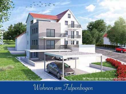 Erstbezug: attraktive 4-Zimmer-Wohnung mit Einbauküche und Balkon in Reutlingen-Gönningen