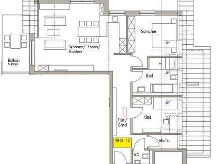 3 Zimmer Dachgeschosswohnung mit Abstellraum