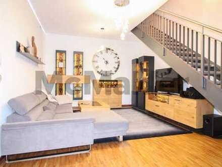Stilvolles Wohnen für Paare oder Kleinfamilien: Gehobene Maisonettewohnung mit Terrasse nahe München