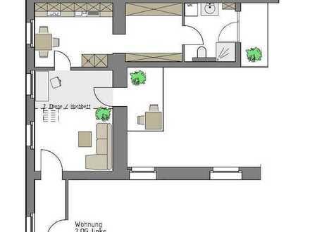 Sanierte 1,5- Zimmer Altbauwohnung mit 2 Balkonen in der Weststadt KA