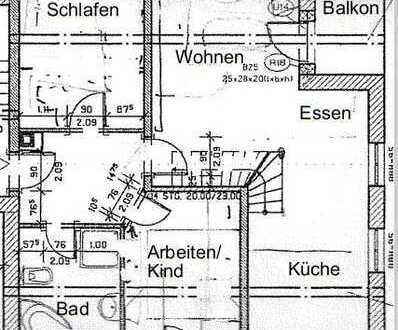 Schöne 4-Zimmer-Maisonette-Wohnung mit Balkon und EBK in Annaberg-Buchholz
