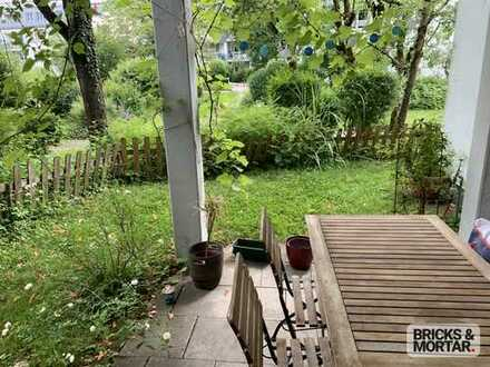 Ruhige 3-Zimmer-Gartenwohnung mit offener Küche