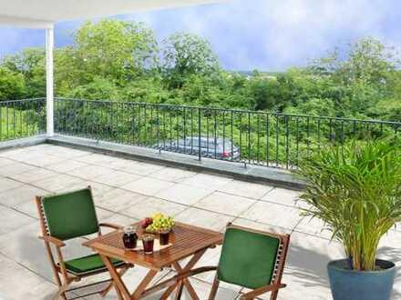 Frankfurt Berger-Hang: Weiter Horizont - Herrliche 3,5 Zimmer Terrassen-Wohnung in bester Lage