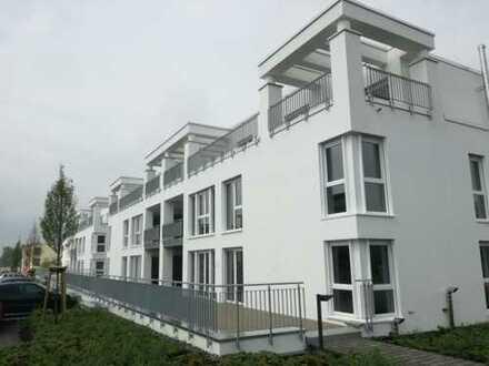 Betreutes-/ Servicewohnen barrierefreier Neubau mit EBK 20 qm Dachterrasse S/W im schönen Brechten