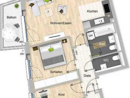 """Neuwertige, helle und ruhige drei Zimmer-Wohnung in Aubing mit EBK, nur 2 min zur S-Bahn """"Aubing"""""""