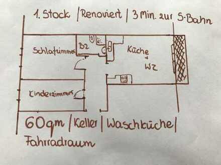 Exklusive 2,5-Zimmer-Hochparterre-Wohnung mit Balkon und Einbauküche in Freising (Kreis)