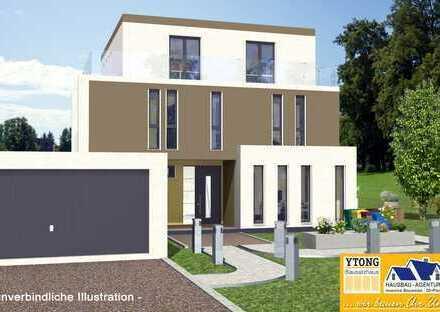 Neubau - Architektenhaus im Bauhausstil in Darmstadt Ost - Massiv in Ytong -