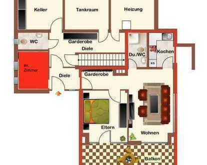 schöne 2-Zimmer Einliegerwohnung im Zwei-Fam.-Haus mit Terrasse