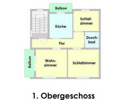 Pflegeleichte und gemütliche Wohnung mit zwei Balkonen