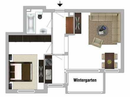 """"""" T O P """" 2 Zimmer-Wohnung mit Wintergarten"""