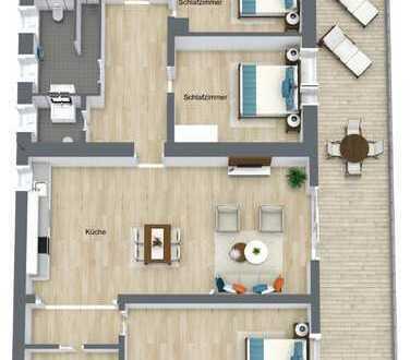 Erstbezug nach Sanierung mit Balkon: freundliche 5-Zimmer-Wohnung in Illingen (provisionsfrei)