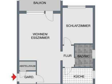 2,5 - Zi.-Wohnung mit großem Balkon, Carport inklusive