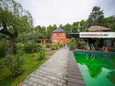IMMOBERLIN.DE - Exzellent gepflegtes Ein-/Zweifamilienhaus mit wunderschönem Südwestgarten