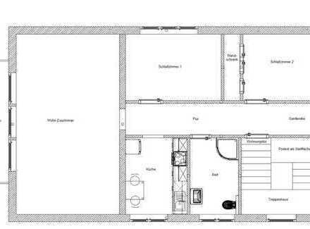Gepflegte 3-Zimmer-Dachgeschosswohnung mit Balkon und Einbauküche in Birkenfeld