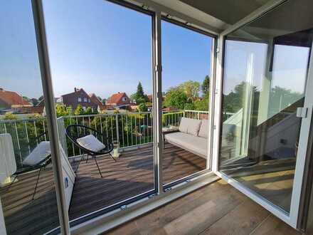 RESERVIERT - Exklusiv neuwertig möbliert 3-Zimmer-Wohnung mit Balkon in Norden
