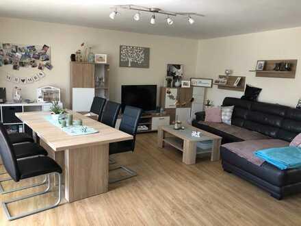 Schöne, moderne 3-Zimmer-EG-Wohnung mit Balkon in Bous