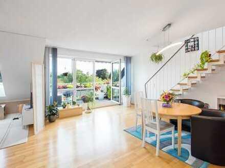 Moderne, schöne Maisonette-Wohnung mit Balkon