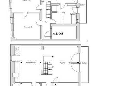 Gemütlicher Wohnen in einer geräumigen Maisonettewohnung