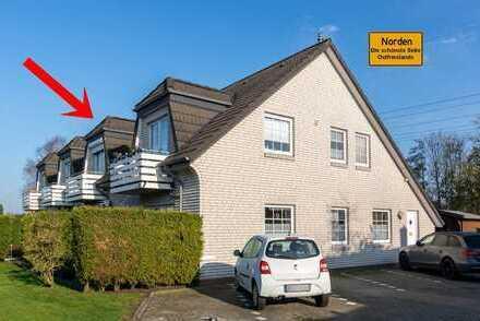 Optimal zugeschnittene Zwei-Zimmer-Wohnung in zentraler aber ruhiger Lage von Norden OT. Tidofeld!