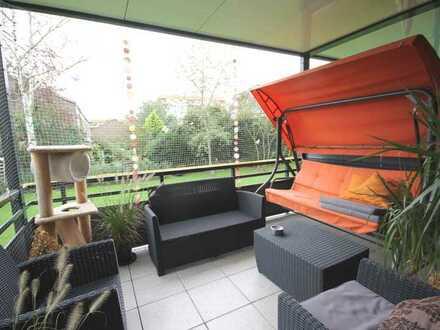 Moderne 3-Zimmer-Wohnung mit großem Balkon in Düsseldorf-Heerdt