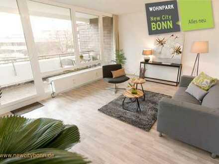 helle moderne 2-Zimmer Wohnung mit großem Balkon
