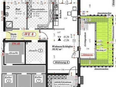 geräumige Souterrain 2,0-Zimmer-Wohnung mit Balkon/Terrasse in Nordkirchen-Capelle