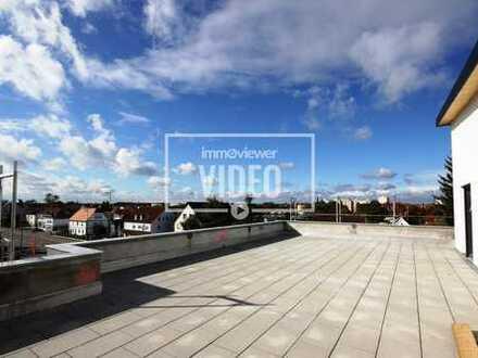 Penthousewohnung (3 ZKB) mit Fußbodenheizung, Fahrstuhl und 115 m² gr. Dachterrasse!