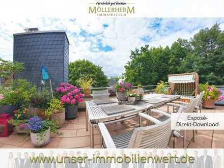 Schönes, geräumiges drei Zimmer Penthouse in Hamburg, Uhlenhorst