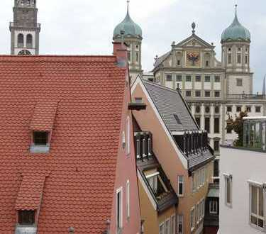 1A-Lage Annastraße mit Blick auf Rathaus