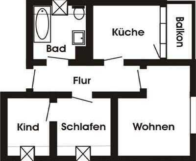 Dachgeschosswohnung für die kleine Familie