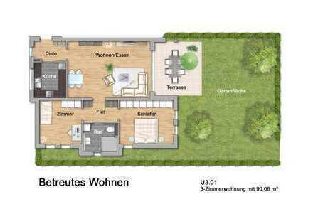 Betreutes Wohnen in Lahr: Dreizimmerwohnung