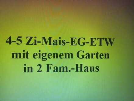 Großzügige 4 Zi-EG-Mais.-Whg. mit eigenem gr. Garten in einem 2 Fam.-Haus