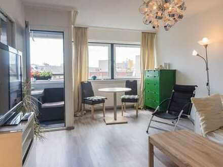 Vollmöbliertes Appartement mit schöner Aussicht und Loggia in Kreuzberg