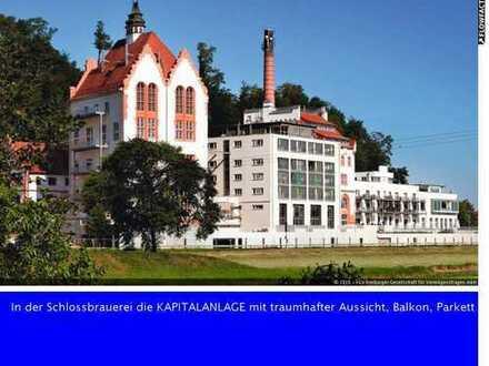 """In der Schlossbrauerei """"die KAPITALANLAGE"""" mit traumhafter Aussicht, Balkon, Parkett"""