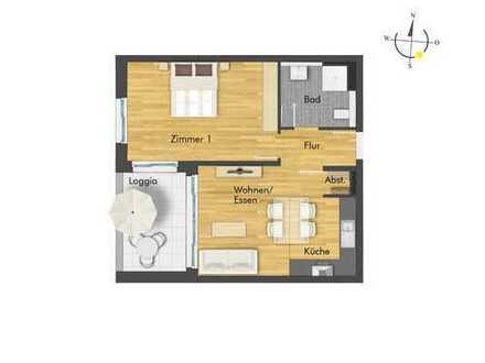 Schicke 2-Zimmer-Wohnung mit Loggia