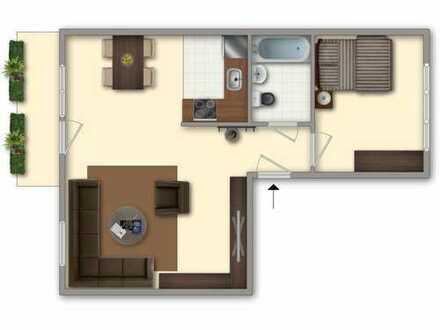 Große Wohnküche & Balkon