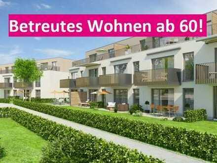 Perfekt für alle ab 60: Betreutes Wohnen - Erstbezug! Großzügige 2 ZKB mit Terrasse und Einbauküche