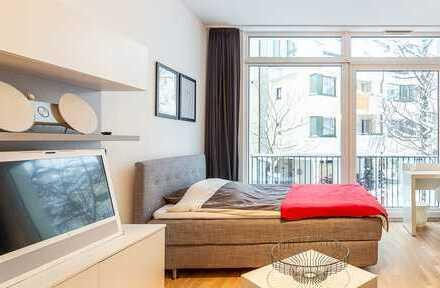 Exklusive, voll ausgestattete 1,5-Zimmer-Wohnung in Bogenhausen, München