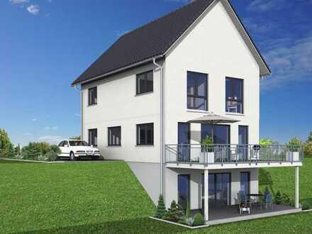 Wohngesundes Einfamilienhaus mit Fernsicht inklusive Grundstück