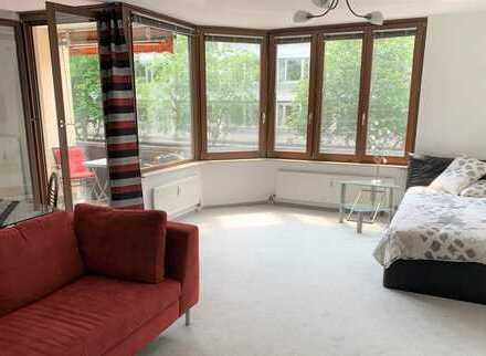 Möbliertes 1 Zimmer Appartement mit Balkon und EBK, Innenstadt Mannheim Nähe Reiss-Engelhorn-Museum