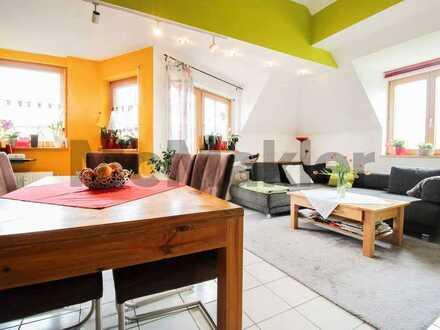 Gepflegte 3-Zimmer-Maisonettewohnung mit ruhigem Balkon in zentrumsnaher Lage