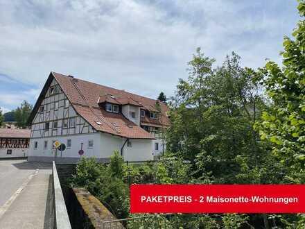 Preispaket - 2 vermietete Maisonette-Wohnungen bei Kempten