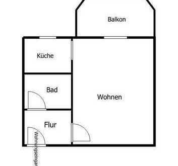 1-Raum Wohnung mit Balkon (Wohnung des Monats)