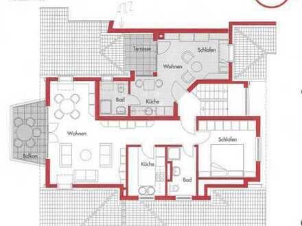 Schöne, helle ein Zimmer Wohnung mit Dachterrasse in Wäldenbronn