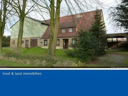 Resthof mit Stallungen, Halle mit Solaranlage, 3-4 Bauplätze